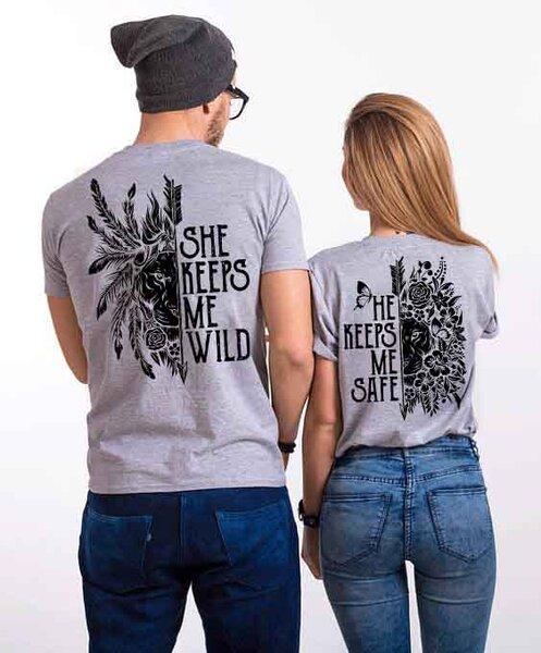 Тениски за двойки SAFE / WILD Gray