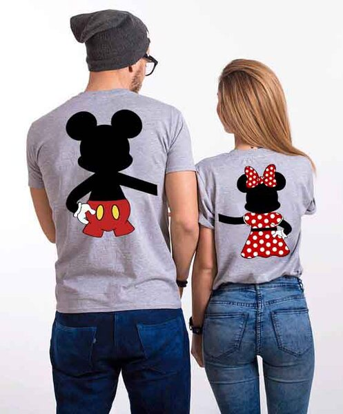 Тениски за двойки HUG Gray