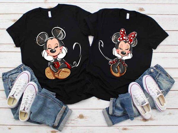 Тениски за двойки Мики и Мини Премиум