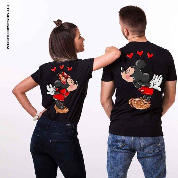 Тениски за двойки Мики и Мини Премиум Back