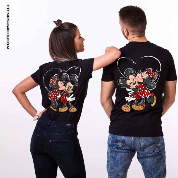 Тениски за двойки Мики и Мини Премиум Back 2