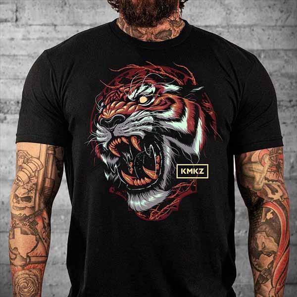 Тениска Tiger Black