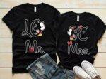 Тениски за двойки LO VE Black