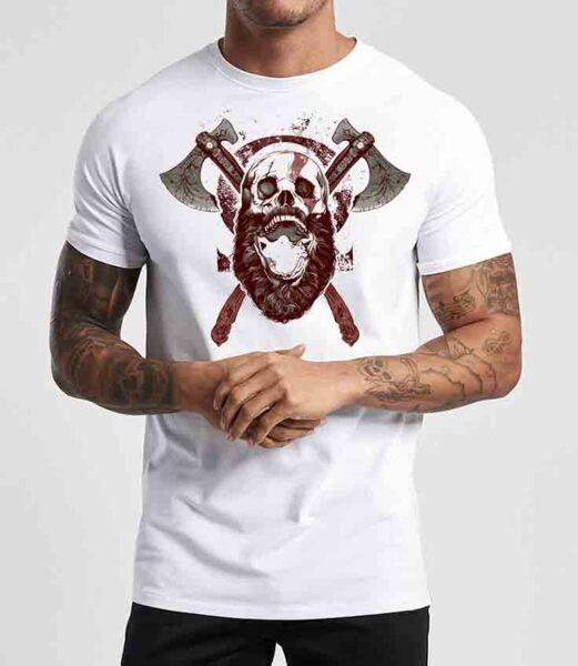 Тениска God Of War White