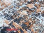 релефен килим Женева 3722 сив/оранж