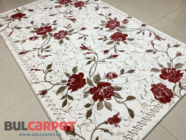 релефен килим ривиера 5500 крем-пудра