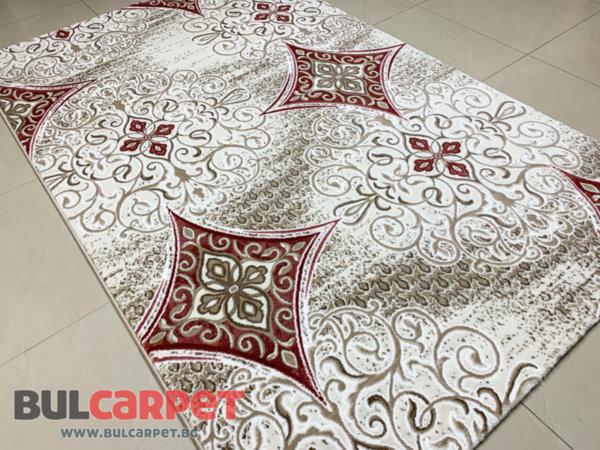 релефен килим ривиера 5509 крем-пудра