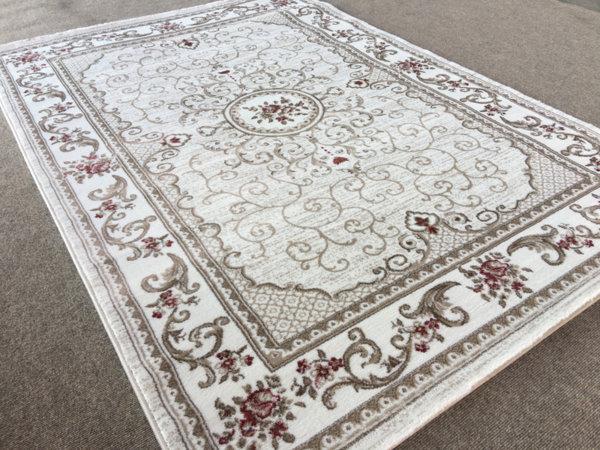 релефен килим ривиера 5526 крем-пудра