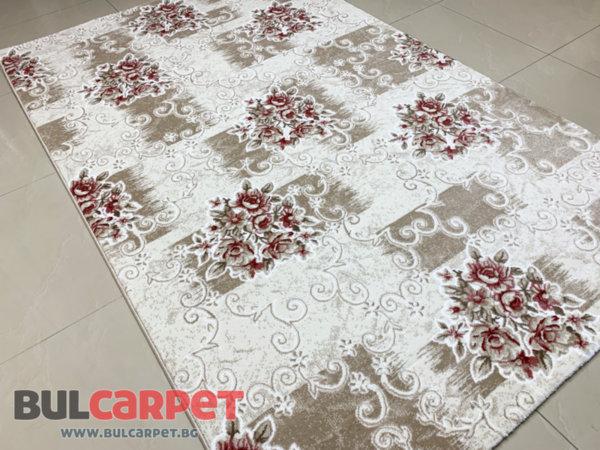 релефен килим ривиера 5534 крем-пудра