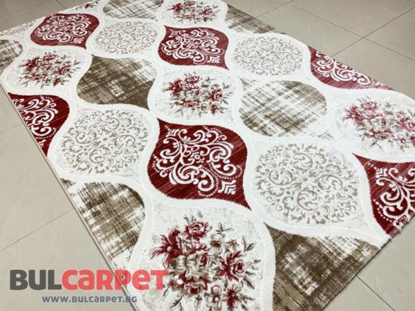 релефен килим ривиера 5539 крем-пудра