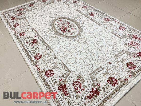релефен килим ривиера 5542 крем-пудра
