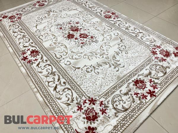 релефен килим ривиера 7314 крем-пудра