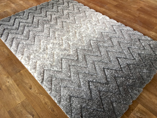 килим шаги лотус релеф 7620 сиво