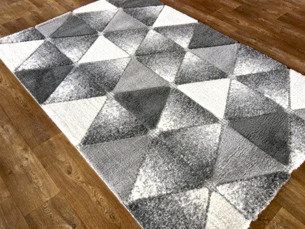 килим шаги лотус релеф 7619 сиво