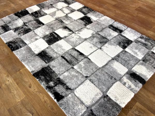 килим шаги лотус релеф 6393 сиво