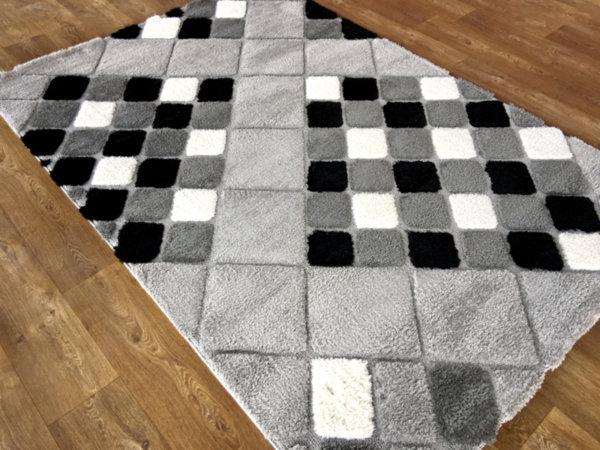 килим шаги лотус релеф 5492 сиво