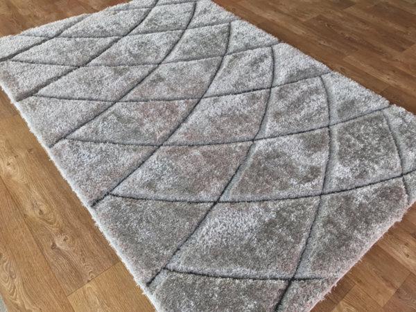 килим шаги макс 3Д  319 сив