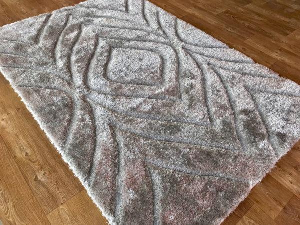 килим шаги макс 3Д  315 сив