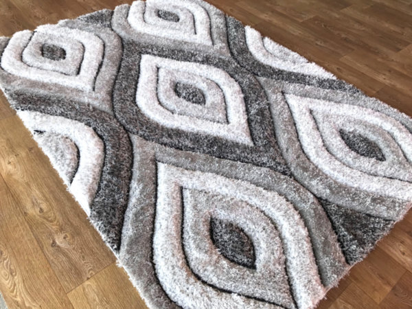 килим шаги макс 3Д  311 сив