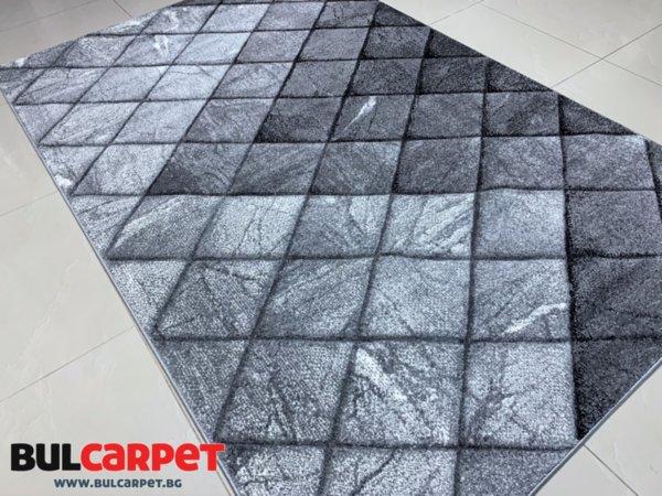 релефен килим вива 9978 сив
