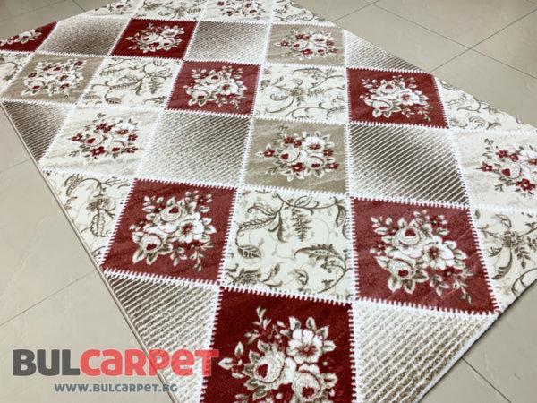 релефен килим ривиера 5537 крем-пудра