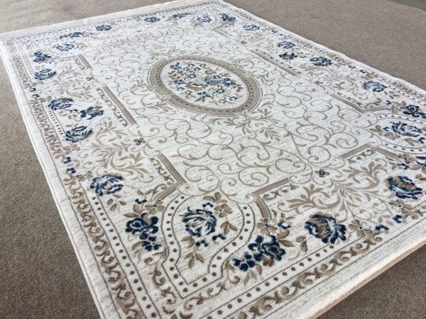 релефен килим ривиера 5524 крем-син