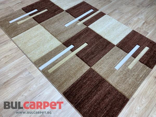 релефен килим фокус  20 т.беж