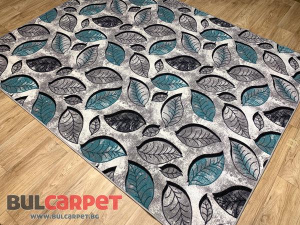 мокетен килим листа тюркоаз