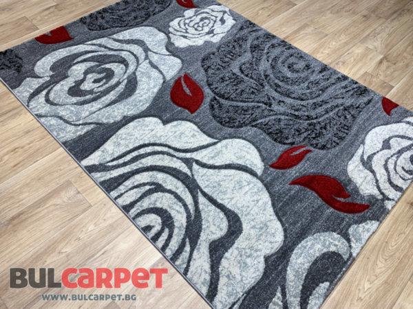 релефен килим фокус 4 сив