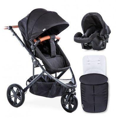 Бебешки колички 3 в 1 1 - черна