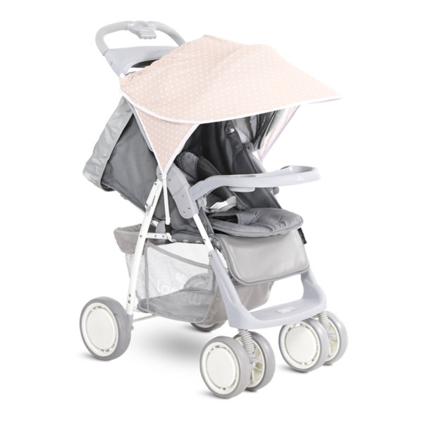 Lorelli Сенник за детска количка бежово с бели точки 20800931901