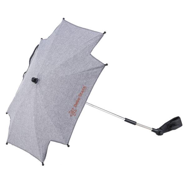 Bebe Stars Универсален чадър за количка сив 13-186