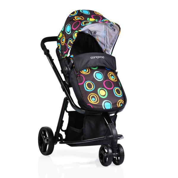 Cangaroo Комбинирана детска количка Sarah черна