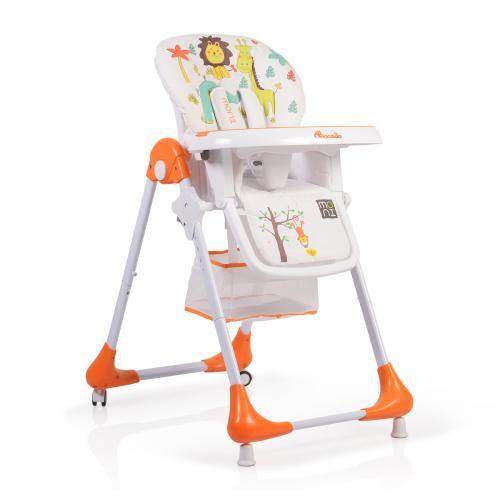 Moni Детско столче за хранене Avocado оранжев 106248