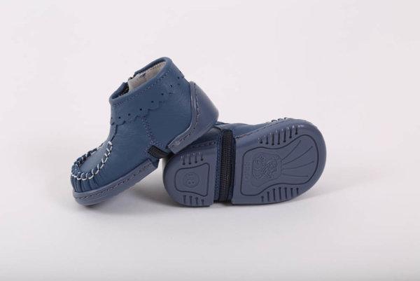 Беко Бебешки обувки за прохождане Беко - буйки сини /естествена кожа/ пролет/есен