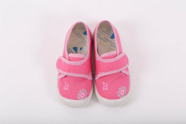 Беко Бебешки обувки за прохождане Беко - пантофи класик – розови /текстил/ пролет/есен