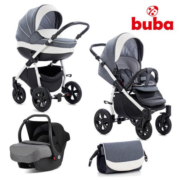 Buba Комбинирана бебешка количка 3 в 1 Forester col. 595, сива NEW022278