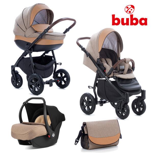 Buba Комбинирана бебешка количка 3 в 1 Forester col. 598, бежова NEW022281