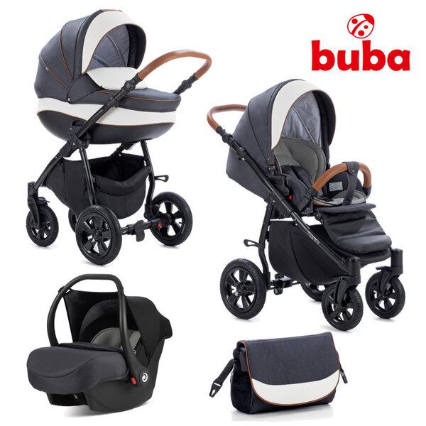 Buba Комбинирана бебешка количка 3 в 1 Forester col. 596, графит/черна NEW022279