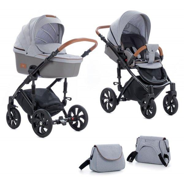Tutis Комбинирана бебешка количка 2 в 1 Viva Life Sleet col. 074