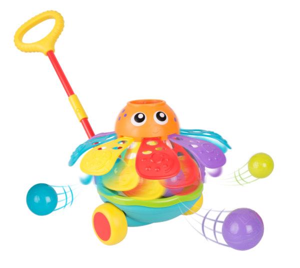 Playgro Активна играчка за бутане с топчета - Октопод (12-36м)  Jerry's Class 0721
