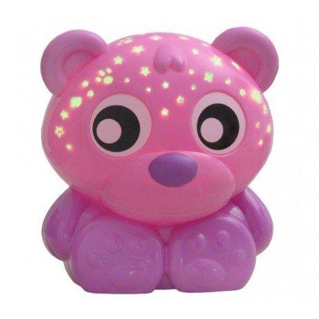 "Playgro Проектор и нощна лампа Мече ""Лека нощ"", розово 0м+ PG - 0210"