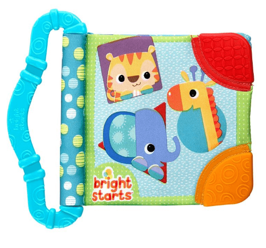Bright Starts Мека книжка Teethe & Read Toy Синя 8475