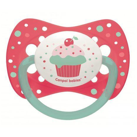 Canpol Бебешка силиконова залъгалка /симетрична/ Cupcake 6-18м 23/283