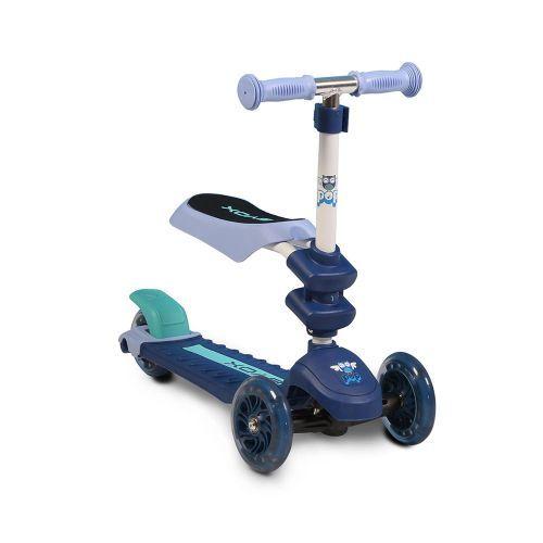 Byox Детска тротинетка-скутер със седалка 2 в 1 Pop синя