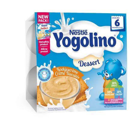 Nestle Млечен десерт Nestle Yogolino - Бисквита 4 броя по 100 g