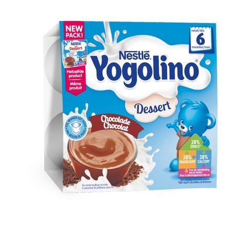 Nestle Млечен десерт Nestle Yogolino - Шоколад 4 броя по 100 g