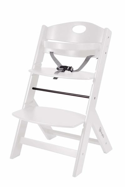 BabyGo Дървен стол за хранене Family White