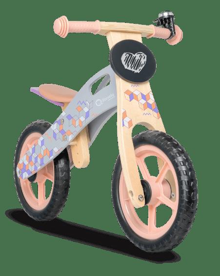 Lionelo Дървено колело за баланс Casper Pink 4557