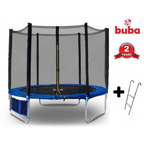 Buba Детски батут с мрежа и стълба 244 см